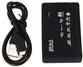 Geheugenkaart lezer - kaartlezer - cardreader - Multifunctioneel - USB - extern - CF - MS - TF - M2 - (micro) SD - memory card reader - DisQounts