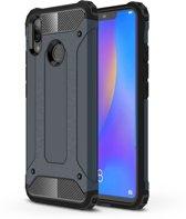 Let op type!! Diamond Armor PC + TPU warmte dissipatie beschermende case voor Huawei Nova 3i (marineblauw)
