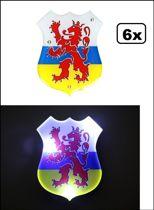 6x Speld met licht Provincie wapen Limburg