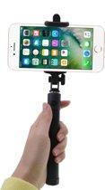 Selfie Stick met knop in het handvat Bluetooth Zwart
