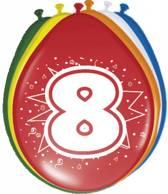 Ballonnen 8 Jaar - 8 stuks