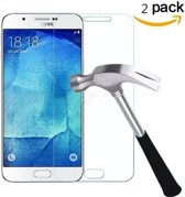 2X Samsung Galaxy J7 2017 Glazen tempered glass / screen protector 2.5D 9H (0.3mm