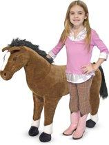 Melissa & Doug Grote Pluche Paard 80 cm hoog