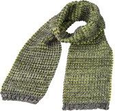 Trendy gebreide sjaal grijs/geel