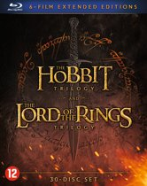 DVD cover van Middle Earth Collection (Extended Edition) (Blu-ray)