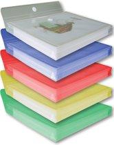 EXXO-HFP #90700 - A4 XL Documentenmap - Cap. 30mm - Klitsluiting - Assorti kleuren - 1 Pak @ 10 stuks
