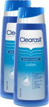 Clearasil Daily Clear Lotion - Reinigingslotion - 2 x 200 ml - Grootverpakking