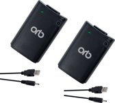Orb Dubbele Play & Charge Kit Zwart Xbox 360