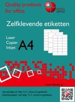 Benza Zelfklevende Etiketten op A4 Vel - 210 x 297 mm - 1 sticker per vel - 25 vel