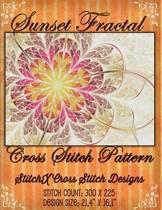 Sunset Fractal Cross Stitch Pattern