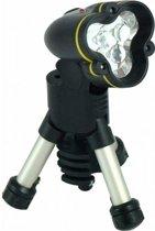 Zaklamp Tripod Campinglamp Tentlamp op Statief - Kampeerlicht Outdoor Camping LED Lamp - Leeslamp Tuinlamp met Driepoot –Kampeerlamp Werklamp Zoeklicht Noodverlichting Kluslamp op Statief - met verstelbare kop