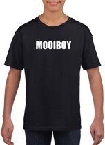 Mooiboy tekst t-shirt zwart kinderen S (122-128)