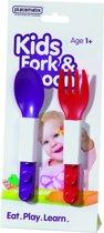 Placematix Lepel en Vork - Voor Kinderen - Rood/paars - Set van 2 stuks