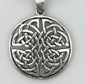 Zilveren hanger Cirkel met keltische knoop Liefde en vriendschap