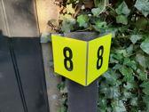 Reflecterend Driehoek Huisnummer Flex-Bordje ( gratis verzending )