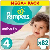 Pampers Active Fit - Luiers Maat 4 82 st