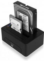 Ewent EW7014 - Dual Docking Station / 2.5 + 3.5 inch SATA HDD/SSD