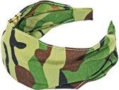 Fako Fashion® - Diadeem - Camouflage/Army - Groen