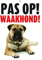 Waakbord Pas op! Waakhond - Polypropeen - Wit met opdruk - 21 x 14,8 cm