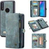 CASEME Luxe Leren Portemonnee hoesje voor de Huawei P30 Lite - blauw