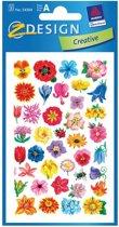Bloemen stickers 3 vellen