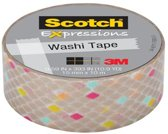 Scotch®  Expressions Tape Refill Goud/diamant, 15mm x 10m