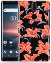 Nokia 8 Sirocco Hoesje Flowers