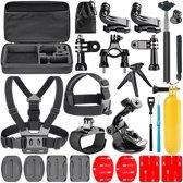 Navitech 18 in 1 Action Camera Accessoires Combo Kit met EVA Hoes voor Actie Camera's