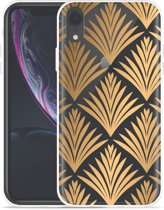 Apple iPhone Xr Hoesje Art Deco Gold