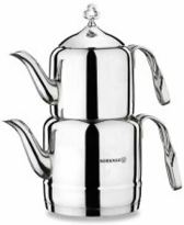 Korkmaz Cintemani Turkse Theepot 1.1-2.0 liter - Zilver