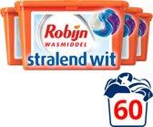 Robijn 3-in-1 Capsules Stralend Wit Wasmiddel 4 x 15 wasbeurten