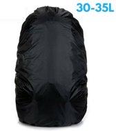 Flightbag Regenhoes Waterdicht voor Backpack Rugzak - 30-35 Liter Regenhoes – Zwart