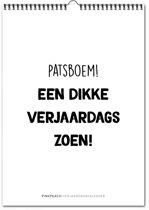 Verjaardagskalender Patsboem! - Zwart Wit
