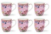 Pip Studio Floral Mok Klein Hummingbirds Roze - 6 stuks