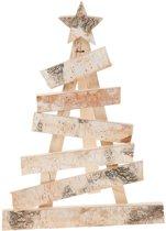 Kerstboom van Berkenhout met Ster