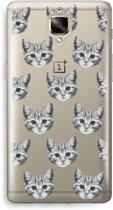 OnePlus 3 Transparant Hoesje (Soft) - Kitten