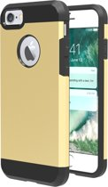 Mobigear TPU + PC Combination Case Gold voor iPhone 7 / 8