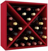 Wijnkast wijnrek Weino III modulair samen te stellen rood