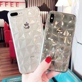 Lovebay Hoesje iPhone X, Xs - Diamant Patroon Transparant