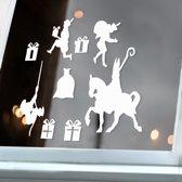Raamsticker sinterklaas - statisch hechtend - herbruikbaar - raamdecoratie