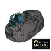 Regenhoes/flightbag voor backpack - 55-80 liter - Zwart