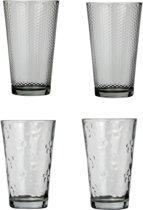 Ard'time Table de L'ete  Longdrinkglazen - Transparant - Glas - 4 stuks - 450 ml