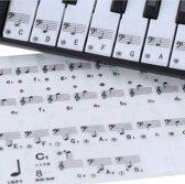 Piano Keyboard Stickers / Eenvoudig Muzieknoten Leren / Geschikt voor 49, 61 en 88 Toetsen / Stickervel
