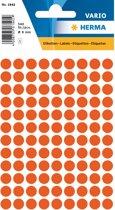 Herma 1842 Etiket Rond 8mm Rood - Pakje met 5 velletjes stickers