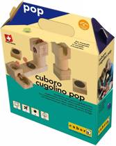 Cuboro Houten knikkerbaan Cugolino Uitbreidingsset Pop