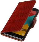 Wicked Narwal   Snake bookstyle / book case/ wallet case Hoes voor Samsung Galaxy A3 (2016) A310F Rood