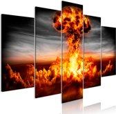 Schilderij - Explosie, 5luik