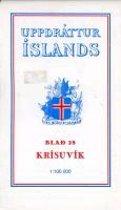 Topographische Karte Island 28 Krisuvik 1 : 100 000