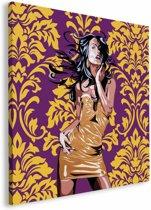 REINDERS Vrouw goud - Schilderij - 115x115cm