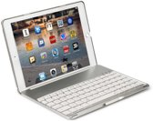 iPad mini 4 Toetsenbord Hoesje - CaseBoutique Bluetooth Keyboard Case - Zilver - QWERTY indeling